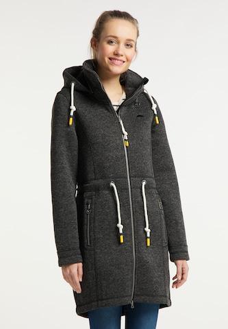 Manteau en tricot Schmuddelwedda en noir