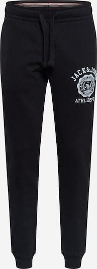 JACK & JONES Pantalón deportivo 'GORDON RALPH' en negro / blanco, Vista del producto