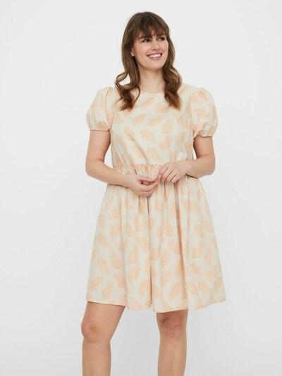 Vero Moda Curve Kleid in creme / apricot, Modelansicht