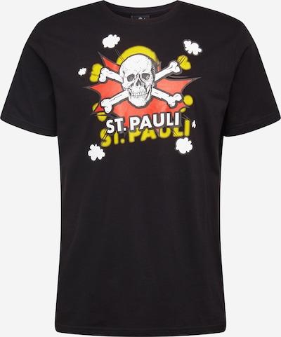 FC St. Pauli T-Shirt 'Pow Pow' in gelb / rot / schwarz / weiß, Produktansicht