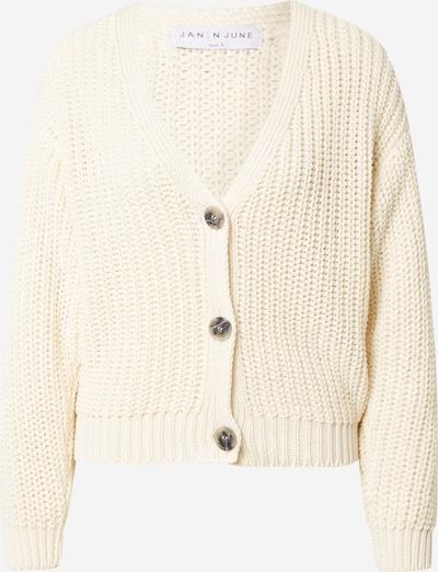 Geacă tricotată 'LENA' JAN 'N JUNE pe alb lână, Vizualizare produs