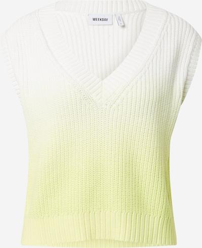 WEEKDAY Πουλόβερ 'Poppy' σε κίτρινο / λευκό, Άποψη προϊόντος