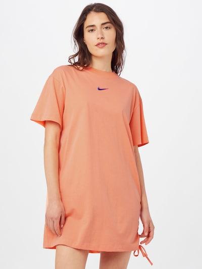 Rochie Nike Sportswear pe albastru / portocaliu somon / roz, Vizualizare model