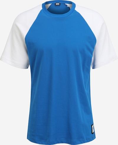 DIESEL Тениска в синьо / бяло: Изглед отпред