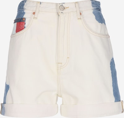 Tommy Jeans Shorts 'Mom' in blue denim / rot / weiß: Frontalansicht