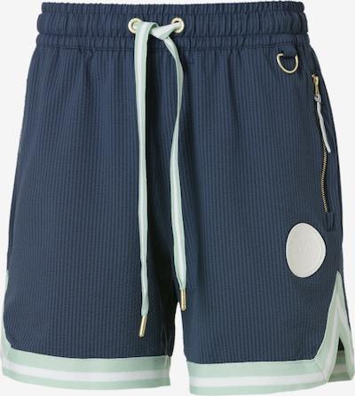PUMA Pantalon de sport en bleu clair / bleu foncé / blanc, Vue avec produit