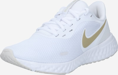 NIKE Running shoe 'Revolution 5' in gold / white, Item view