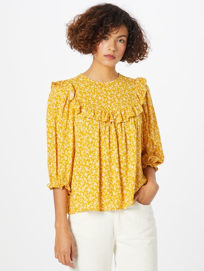 NEW LOOK Blouse 'BECCA' in Yellow / Black / White, View model