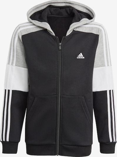 ADIDAS PERFORMANCE Sweatjacke in graumeliert / schwarz / weiß, Produktansicht