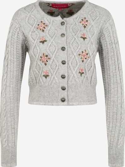 Krüger Madl Knit cardigan 'Jolina' in Light grey / Mixed colours, Item view