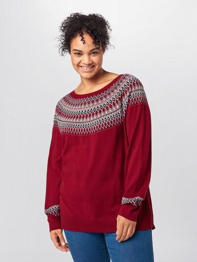 Megztinis iš Esprit Curves , spalva - rožių spalva / vyšninė spalva / juoda: Vaizdas iš priekio