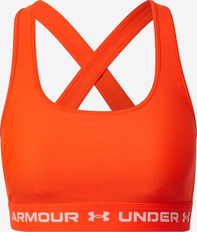 UNDER ARMOUR Sujetador deportivo en rojo anaranjado / blanco, Vista del producto