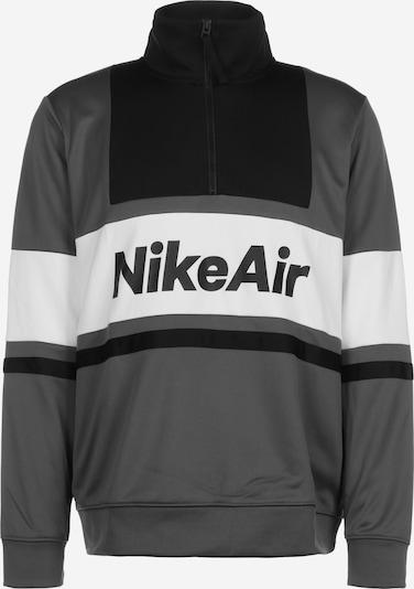 NIKE Hoodie 'Air' in grau / schwarz / weiß, Produktansicht