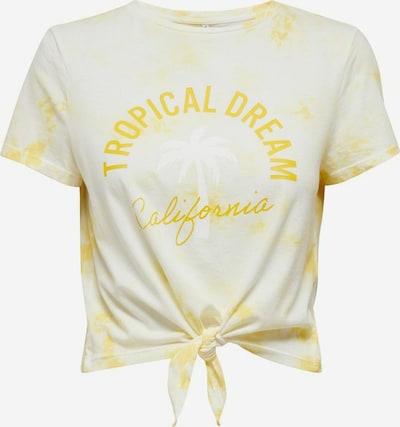 ONLY T-Shirt in gelb / pastellgelb / weiß, Produktansicht