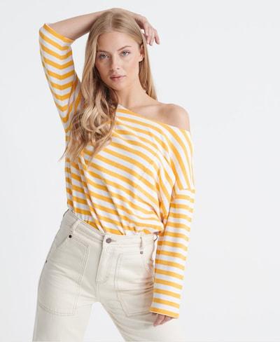 Superdry Bluse in gelb / weiß, Modelansicht