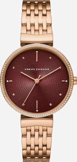 ARMANI EXCHANGE Analoguhr in gold / dunkelrot, Produktansicht