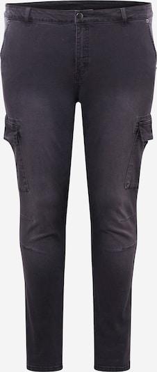 KAFFE CURVE Klapptaskutega teksapüksid must, Tootevaade