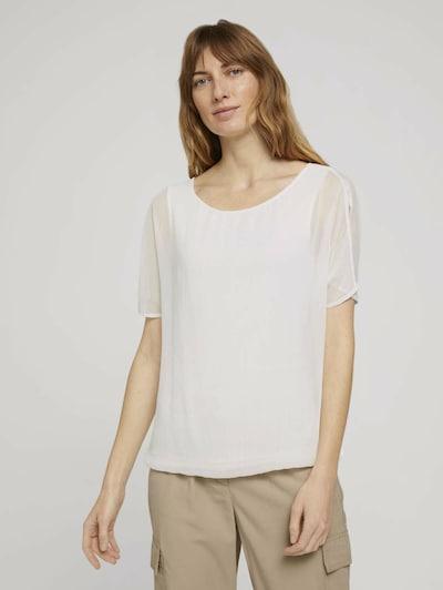 TOM TAILOR Blouse in de kleur Wit, Modelweergave