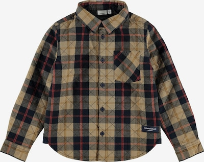NAME IT Hemd in braun / rot / schwarz, Produktansicht