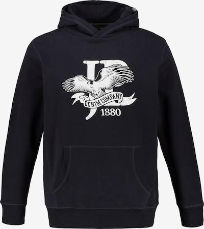 JP1880 Sweatshirt in blau / navy / weiß: Frontalansicht