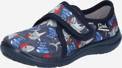 BECK Mājas apavi 'Haie' jūraszils / tumši zils / pelēks / sarkans / balts, Preces skats