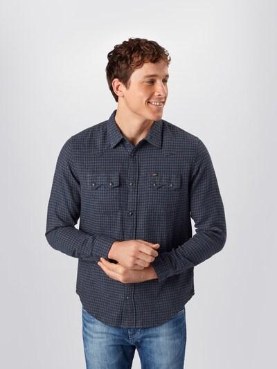 Lee Overhemd 'Rider' in de kleur Blauw / Donkergrijs: Vooraanzicht