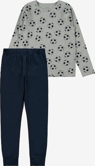 NAME IT Schlafanzug in navy / graumeliert, Produktansicht