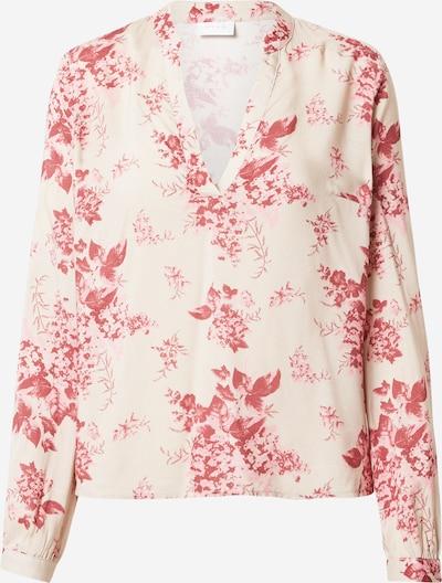 VILA Bluse 'Chanet' in creme / rosa, Produktansicht