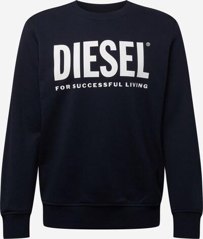 DIESEL Sweatshirt 'GIRK' in de kleur Donkerblauw / Wit, Productweergave
