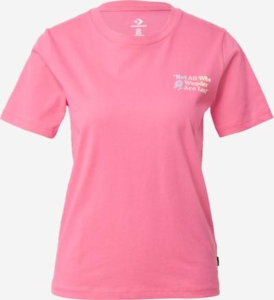 CONVERSE Shirt 'EXPLORATION TEAM' in de kleur Lichtblauw / Pasteloranje / Lichtroze, Productweergave