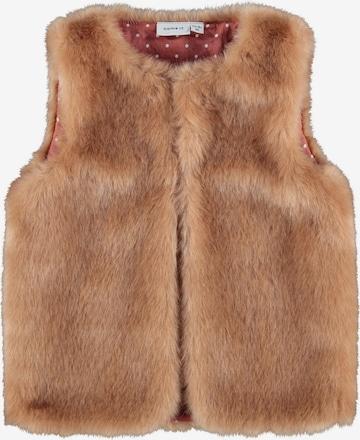 NAME IT Vest 'NAFUR', värv pruun