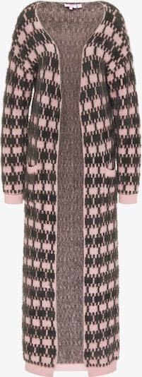 MYMO Strickmantel in dunkelbraun / rosa, Produktansicht
