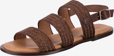 VERBENAS Sandale 'Trenza' in dunkelbraun, Produktansicht