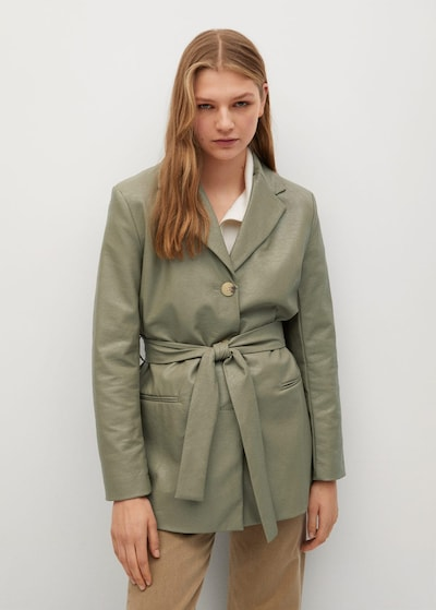 MANGO Blazer 'Olivia' in oliv, Modelansicht