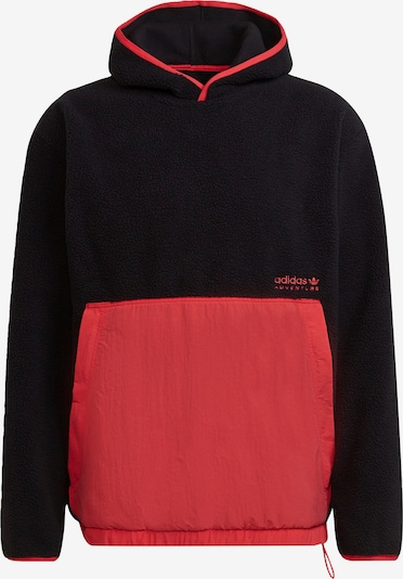 ADIDAS ORIGINALS Hoodie in rot / schwarz, Produktansicht