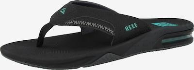 REEF Strand-/badschoen 'Fanning' in de kleur Mintgroen / Zwart, Productweergave