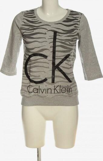 Calvin Klein Jeans Sweatshirt in XS in braun / schwarz / wollweiß, Produktansicht