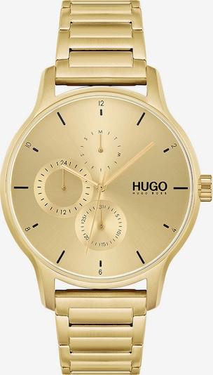 HUGO Analoguhr in gold, Produktansicht