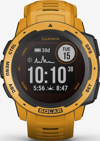 GARMIN Sports Watch 'Instinkt Solar' in Yellow