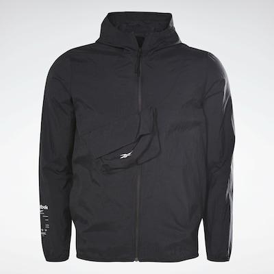 Reebok Sport Sportjacke in schwarz / weiß, Produktansicht