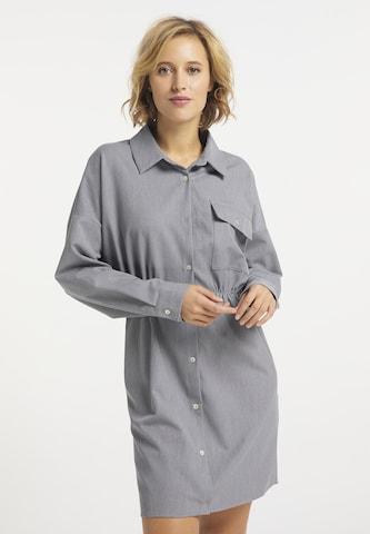 Rochie tip bluză de la usha BLUE LABEL pe gri