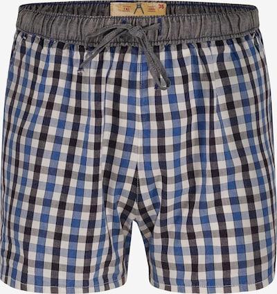 Luca David Pyjama-Shorts 'Olden Glory' in blau / grau / schwarz / weiß, Produktansicht