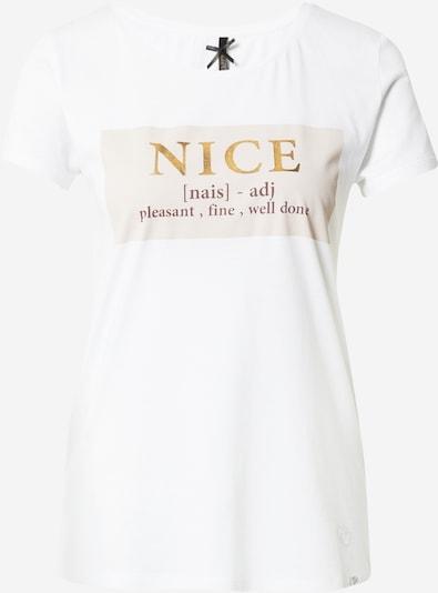 Tricou 'NICE' Key Largo pe bej / maro / auriu / alb, Vizualizare produs