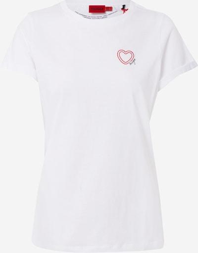 Tricou HUGO pe roșu / negru / alb, Vizualizare produs