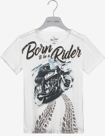 Key Largo T-Shirt 'BT BORN' in weiß, Produktansicht