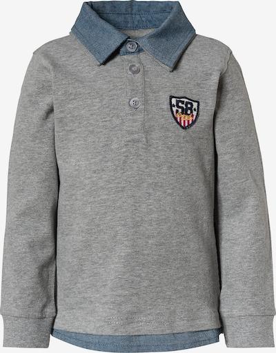 VERTBAUDET Poloshirt in taubenblau / grau, Produktansicht