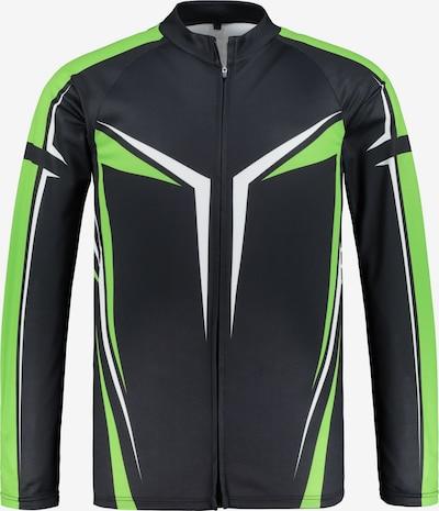 JP1880 Tricot in de kleur Groen / Zwart / Wit, Productweergave