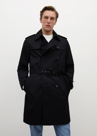 MANGO MAN Tussenjas in de kleur Zwart, Modelweergave