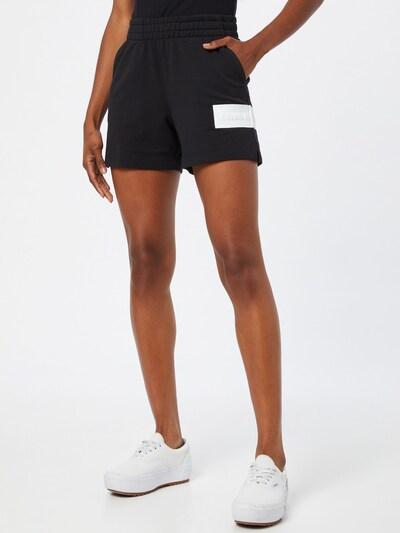fekete / fehér Calvin Klein Jeans Nadrág, Modell nézet