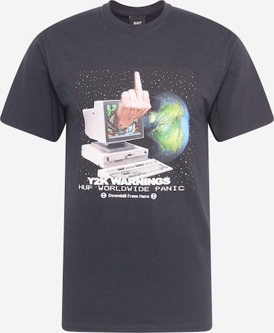 HUF T-Shirt en mélange de couleurs / noir, Vue avec produit